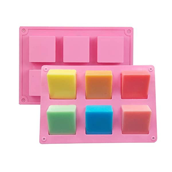 Soap Silicone Molds 2pcs 12 Cavities Square Baking Mold for Soap Candles and Jelly