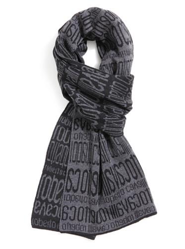 Dettagli su Sciarpa Scarf Roberto Cavalli Logo All over шарф Donna Uomo Women 100% Lana Wool