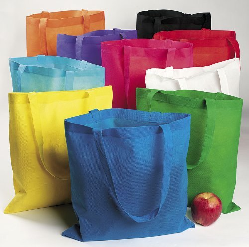 Cool Fun 14-740 Nonwoven Polyester Tote Bag Assortment