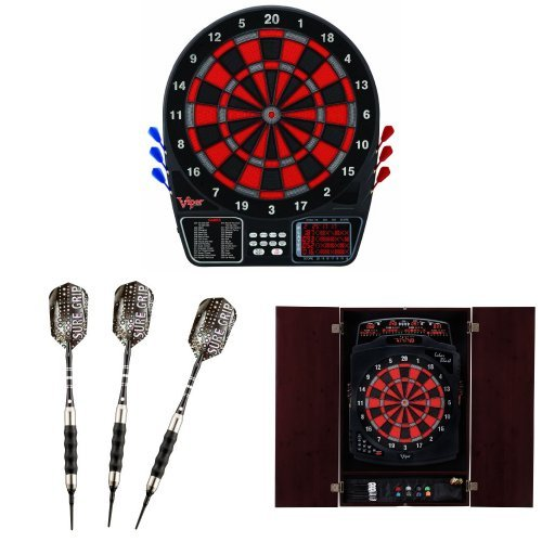 Viper 797 Electronic Dartboard With Soft-Tip Darts And Cabinet Bundle