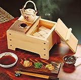 椹・角型湯豆腐セット2人用(木炭専用)