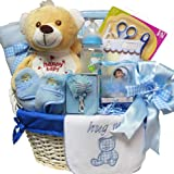 Art of Appreciation Gift Baskets   Sweet Baby BOY Special Delivery with Teddy Bear