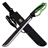 "Master Cutlery ZB-131 Z-Hunter 25"" Machete Black Paint Blade Black Green ABS Rubber Handle Sheath"