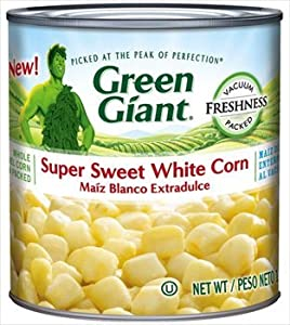 Green Giant, Super Sweet White Corn, 11oz Can (Pack of 6)