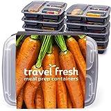 Viaje Fresh premium contenedores de alimentos son dignos de la casa cocinar comidas usted utiliza pasar horas preparando.-ideal para las familias ocupadas, son ideales para prepping adultos y de los niños comidas para el trabajo o la escuela.-Par...