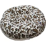 BESSIE AND BARNIE 24-Inch Bagel Bed For Pets, X-Small, Giraffe/Natural Beauty