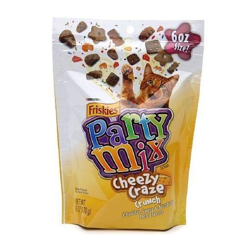 Friskies Party Mix Cheesy Craze Crunch Cheddar Swiss Monterey Jack Flavor6 oz 6 oz (pack of 2) by Friskies