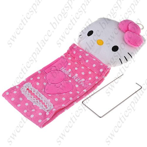 Hello Kitty Style Soft Plush Hanging Roll Toilet Paper