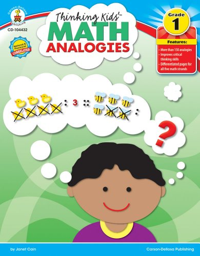 Thinking Kids' Math Analogies, Grade 1