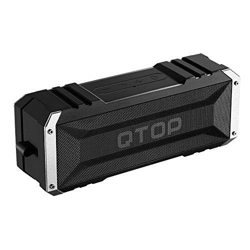 Qtop Bluetoothスピーカー Bluetooth 4.0 20W出力 iPhone, iPad, Samsung, Nexus, HTCなど対応-ブラック IPX4防水防塵認証/最大25時間持続/18ヶ月保証