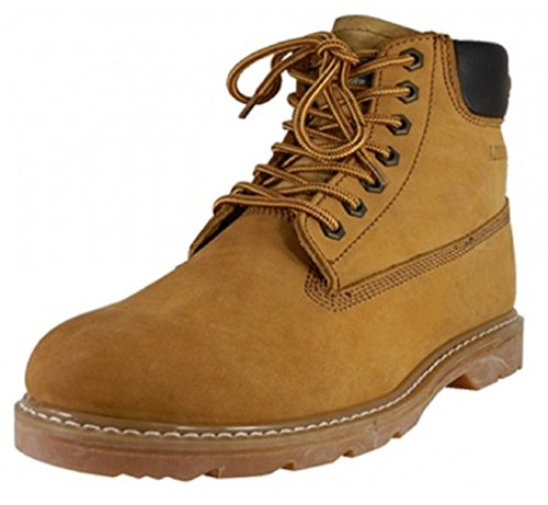 Men's Insulated 6 Inch Oil Resistant Leather Plain toe Nubuck Work Boots - Wheat - Sizes 6-13 (11) (Insulated Walking Shoes compare prices)