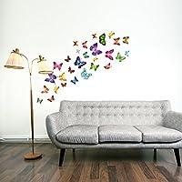 Walplus Butterflies Childrens Wall Stickers Mural Art Decor 28 Piece Mixed Colors from Walplus