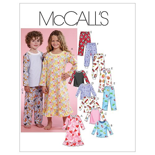Mc Call's Schnittmuster 5965 CF Kinder Schlafanzug,Nachthemd Gr. 4-6 (110-122)