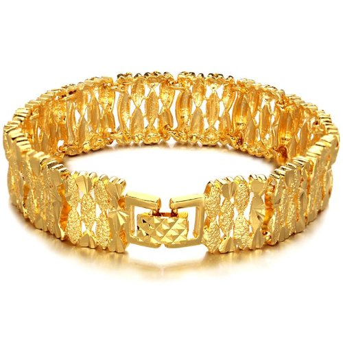 OPK 18K Gold Plated Exquisite Noble Women's Bracelet Bangle Hand Chain Best Gift!