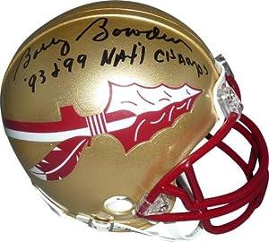 Bobby Bowden Autographed Florida State FSU Seminoles Mini Helmet w  93 99 Champs by PalmBeachAutographs.com