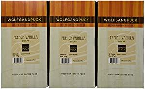 Wolfgang Puck Coffee French Vanilla Decaf Pods, 18-Count Pods (Pack of 3)