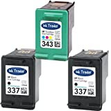 2x HP 337 Black & 1x 343 Tri-Colour Remanufactured Printer Ink Cartridges For use with HP Officejet 100 150 6310 6315 H470 H470b H470wbt K7100 Printers by Ink Trader