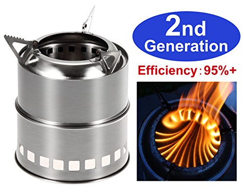 Zhongmei Portable Wood Burning Camping Stove (Small Oven Gas compare prices)