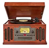 Crosley CR704C-PA Musician 3-Speed Turntable with CD/Cassette Player and Portable Audio Ready (Paprika)