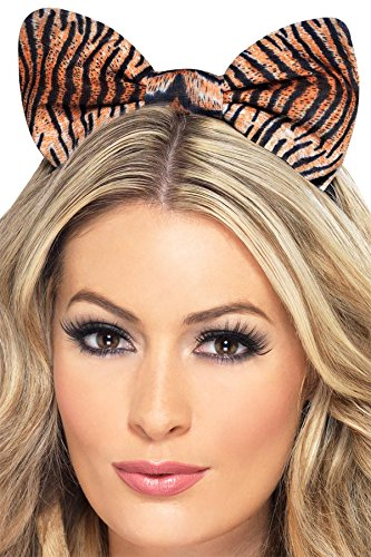 Fever Women's Tiger Bow On Headband On Display Card, Multi, One Size