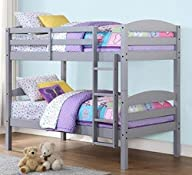 Mainstays Twin Over Twin Wood Bunk Be…