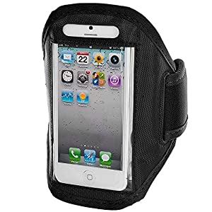 King of Flash High Quality Sports Strong Soft Padded Armband Case Cover for iPhone 5, iPod Touch 5 (Black)