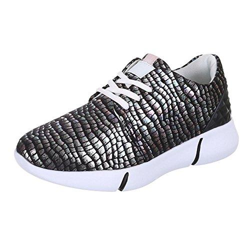 Ital-Design, Sneaker donna, Nero (nero), 41 EU