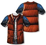 Back To The Future Marty McFly Vest Costume Adult Movie Front and Back Tee T-Shirt Multi Large