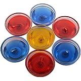 Vishvakruti Glass Gel Candle (6 Cm X 6 Cm X 3 Cm, Set Of 7, VK-GEL-16-350-00)