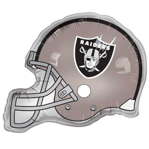 Oakland Raiders Football Helmet Balloons