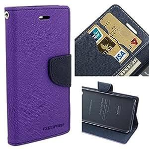 STAPNA Mercury Goospery Fancy Dairy Wallet Flip Case Cover For Samsung Galaxy S5 -(purple)