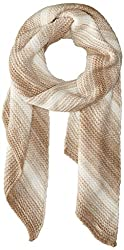 Calvin Klein Women's Marled Angled Edge Scarf Heathered Almond Scarf One Size