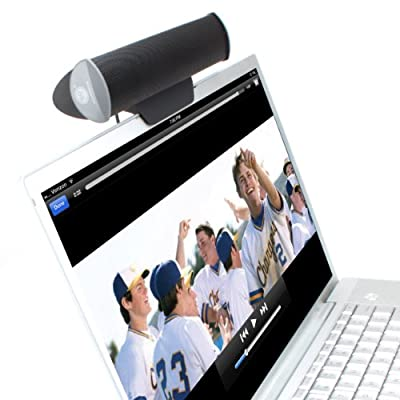 GOgroove SonaVERSE USB Clip On Soundbar Laptop Speaker w/ USB Plug-n-Play for Amplified Sound - works w/ Toshiba , Asus , Mac , Macbook Pro , HP , Samsung , Acer , Dell , Sony , Lenovo Laptops & More