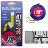 120-Inch/300-Centimeter Retractable Tape Measure: Great for Tailors, Sewing, Hobby, Quilting, etc