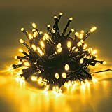LEDソーラーイルミネーションライト300球 クリスマスイルミネーション (ゴールド)