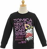 (トミカ)TOMICA 男の子 100-120cm 裏起毛 長袖トレーナー カットソー【51t230】 100cm ブラック