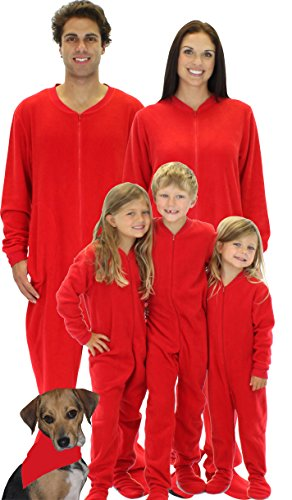 SleepytimePjs Family Matching Red Footed One Piece Pajamas