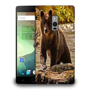 Snoogg Bear From The River Printed Protective Phone Back Case Cover Fpr OnePlus One / 1+1