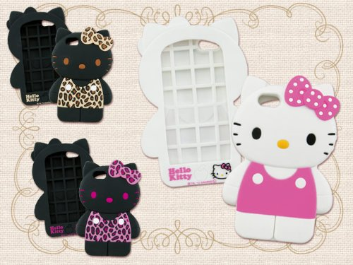Great Sale Sanrio Hello Kitty Full-Body 3D iPhone 5 Case (Leopard/Brown)