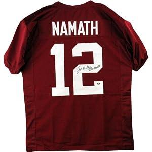 Joe Namath Signed Alabama Jersey Full Name ( Joe Namath Holo) by Steiner+Sports