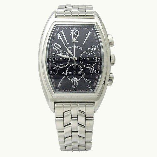 GRANDEUR (グランドール) 腕時計 トノー型 クロノグラフ 10気圧防水 カレンダー付き OSC035W2 メンズ