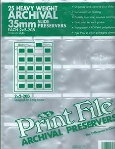 Print File 25 35mm Slide Pages