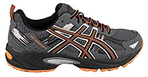 ASICS Men's GEL Venture 5 Running Shoe, Carbon/Black/Hot Orange, 10.5 M US