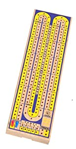 Drueke 817.00 2-Track Multi Colored Cribbage