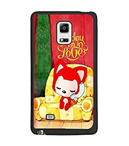 PrintDhaba Love D-5999 Back Case Cover for SAMSUNG GALAXY NOTE 4 (Multi-Coloured)