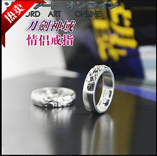 Sword Art Online Kirito Asuna Couple Rings Love Rings Animation (Sword Art Online Ring compare prices)