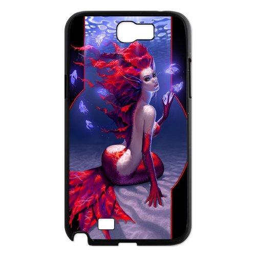 Samsung Galaxy Note 2 N7100 Mermaid Phone Back Case Art Print Design Hard Shell Protection Aq066258