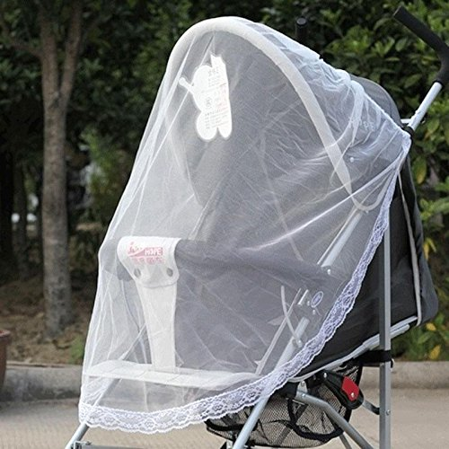 Stylish useful Safe Protector Stroller Infants Baby Mesh Fly Bee Insect Bug Cover Mosquito Net - 1
