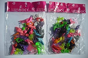 40 Pairs Of Mixed Fashion High Heel Shoes Boots for Barbie Sindy Doll