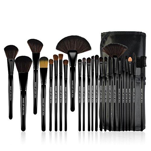 Makeup Brushes, 24 Pieces Professional Makeup Brush Set with Case Travel Makeup Brush, Foundation Brush Powder Brush Face Brush Blush Brush Eyeshadow Brushes Eyeliner Brush